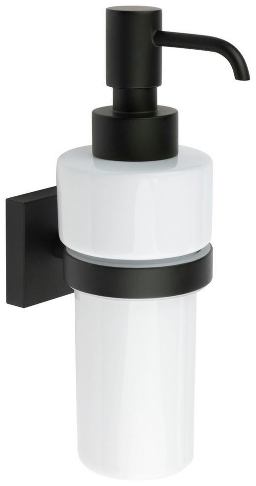 SEIFENSPENDER - Schwarz/Weiß, Design, Keramik/Metall (6/18/8,4cm)
