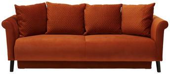 BIGSOFA in Textil Rostfarben  - Rostfarben/Schwarz, KONVENTIONELL, Holz/Textil (238/92/106cm) - Carryhome