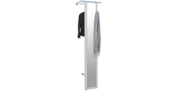 GARDEROBENPANEEL 52/195/35 cm - Alufarben, Design, Glas/Metall (52/195/35cm) - Dieter Knoll