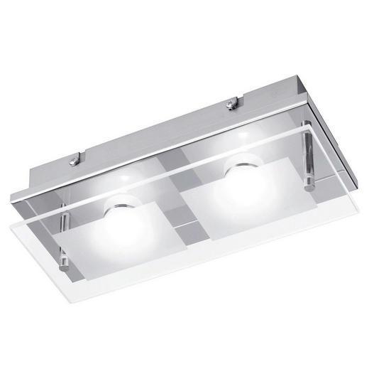 LED-DECKENLEUCHTE - Chromfarben, Design, Metall (24/10/6,2cm) - Novel