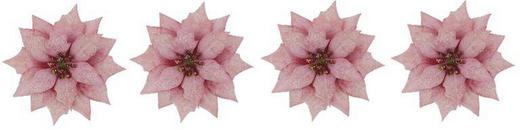 Dekoclip-Set 4-tlg. - Rosa, Kunststoff/Metall (11/5cm)