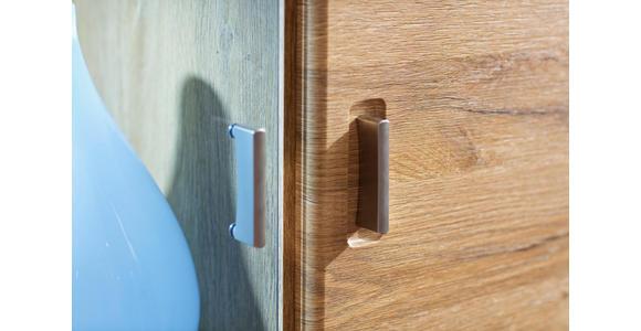 HIGHBOARD 154/139/39 cm  - Eichefarben/Grau, KONVENTIONELL, Glas/Holzwerkstoff (154/139/39cm) - Cantus