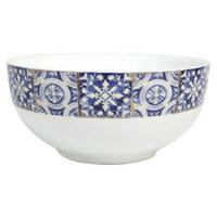 MÜSLISKÅL - vit/blå, Basics, keramik (15,5/6,8cm) - LANDSCAPE