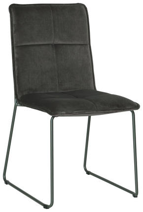 STOL - grå/svart, Design, metall/textil (56/91/58,5cm) - Carryhome