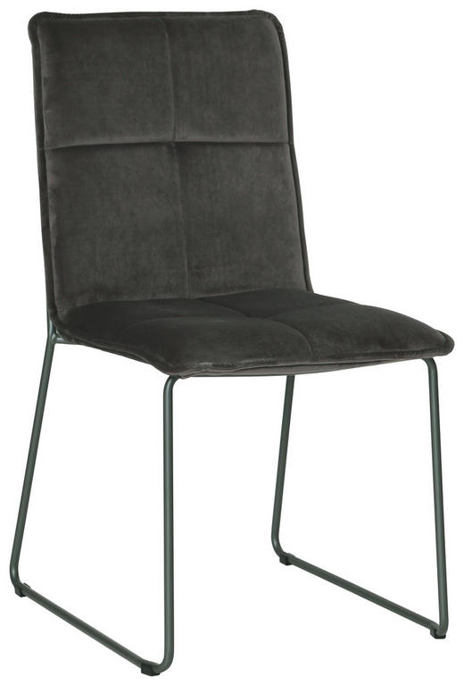 STUHL Samt Grau, Schwarz - Schwarz/Grau, Design, Textil/Metall (56/91/58,5cm) - Carryhome