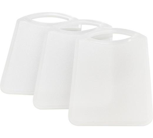 Schneidebrett 3er Set - Weiß, Basics, Kunststoff (15/25/1cm) - Homeware