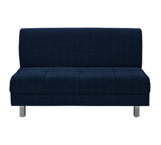 SCHLAFSOFA in Textil Blau  - Chromfarben/Blau, MODERN, Textil (144/90/103cm) - Novel