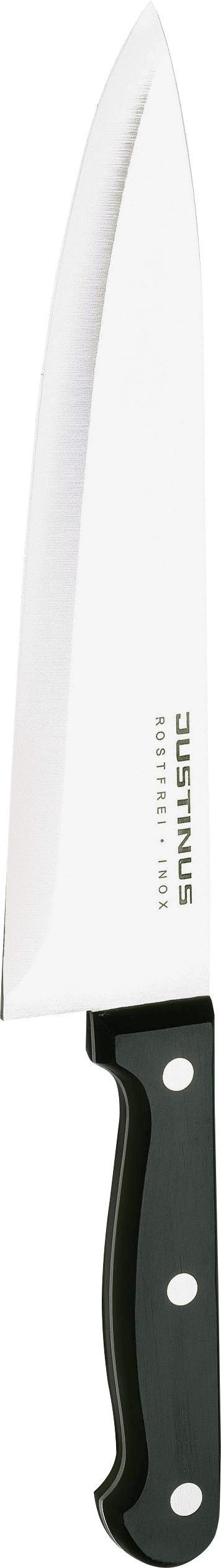 KUHINJSKI NOŽ - črna/srebrna, Konvencionalno, kovina/umetna masa (32cm) - JUSTINUS