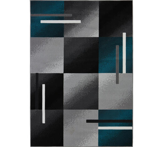 WEBTEPPICH - Petrol/Schwarz, KONVENTIONELL, Textil (80/150cm) - Boxxx
