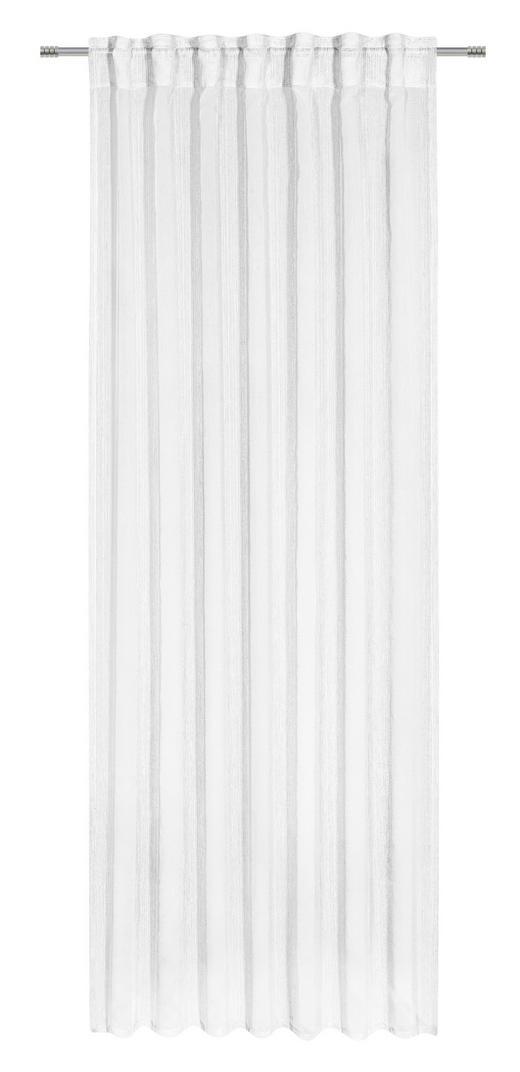 FERTIGVORHANG halbtransparent - Weiß, Basics, Textil (140/245/cm) - Esposa