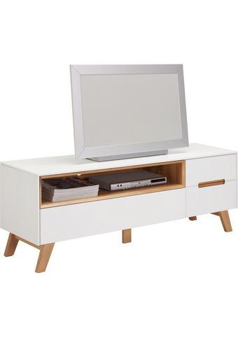 TV DÍL - bílá/barvy dubu, Design, dřevo/kompozitní dřevo (153/54,5/41cm) - Hom`in
