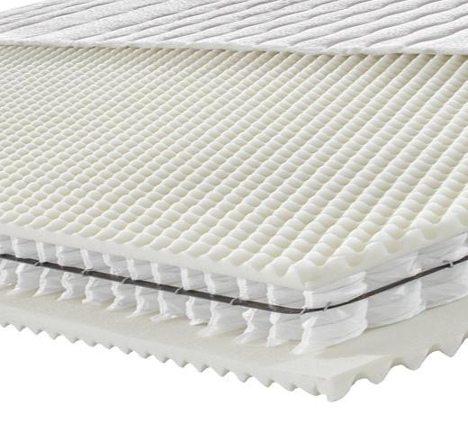 Partnermatratze Taschenfeder ORTHO STAR PLUS 180/200 cm  - Weiß, KONVENTIONELL, Textil (180/200cm) - Novel