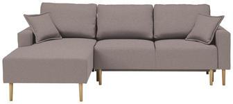WOHNLANDSCHAFT in Textil Braun - Buchefarben/Braun, Design, Holz/Textil (146/223cm) - Xora