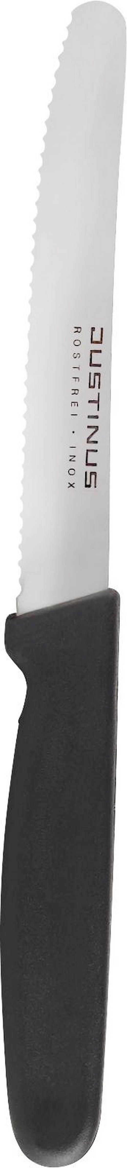 BRÖTCHENMESSER 22 cm - Silberfarben/Schwarz, KONVENTIONELL, Kunststoff/Metall (22cm) - Justinus