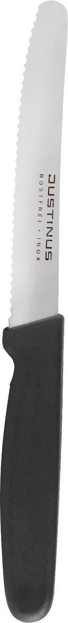 NŮŽ NA PEČIVO - černá/barvy stříbra, Konvenční, kov/umělá hmota (22cm) - JUSTINUS