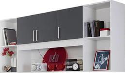 REGAL in 212/93/38 cm Grau, Weiß  - Silberfarben/Weiß, Design, Holzwerkstoff/Kunststoff (212/93/38cm) - Carryhome