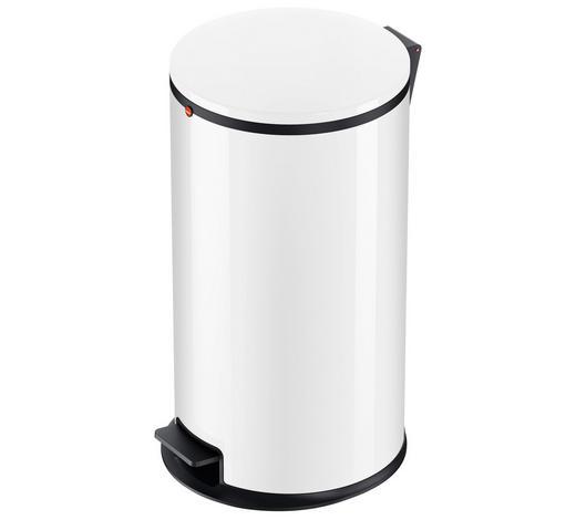 ABFALLSAMMLER 25 L - Schwarz/Weiß, Basics, Kunststoff/Metall (25l) - Hailo