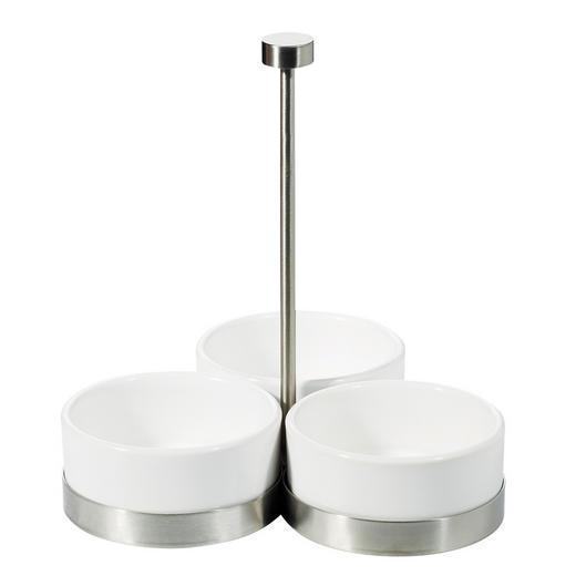 SCHÜSSELSET Metall Porzellan - Weiß, Basics, Metall (8/4cm) - ASA