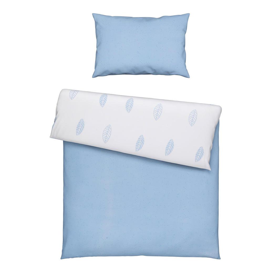 Image of Avelia Babybettwäsche 100/135 cm , Blätter Blau , Blau, weiss , Textil , Blätter , 100 cm , Renforcé , atmungsaktiv, saugfähig , 005050010004