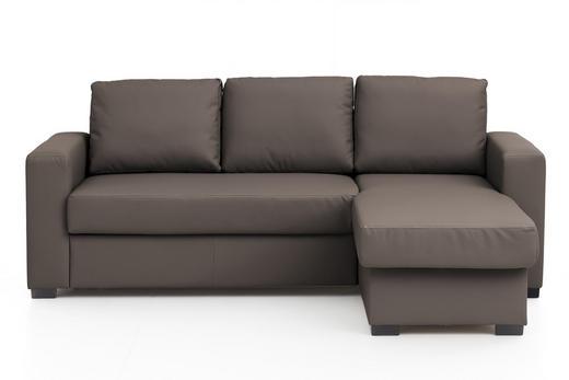 WOHNLANDSCHAFT Braun Lederlook - Braun, Basics, Kunststoff/Textil (220/150cm) - Carryhome