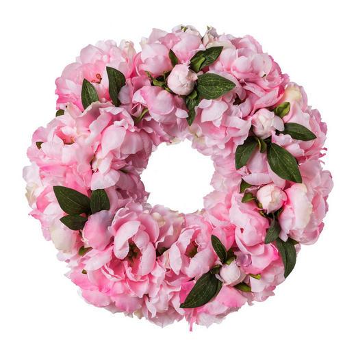 KRANZ  45 cm Rosa - Rosa, Trend, Kunststoff (45cm)