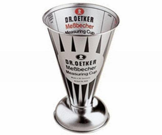 MESSBECHER - Hellgrau, Metall (11/11/15cm) - DR.OETKER