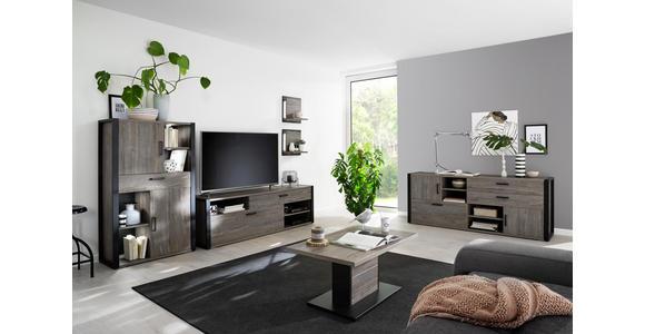 TV-ELEMENT 180/56/43 cm  - Eichefarben/Anthrazit, MODERN, Holzwerkstoff/Metall (180/56/43cm) - Hom`in