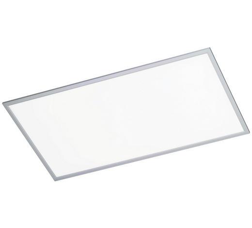 LED-DECKENLEUCHTE - Silberfarben, Design, Kunststoff/Metall (120/60/5,5cm)