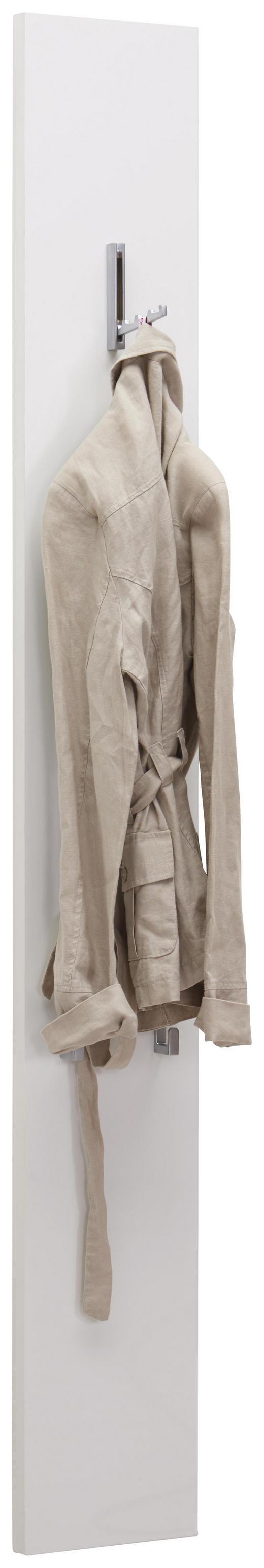 GARDEROBENPANEEL Hochglanz, lackiert Weiß - Weiß, Design (21/160/2,5cm) - Voleo