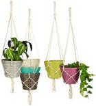 Pflanztopfhänger - Hellbraun/Pink, Trend, Kunststoff/Metall (24/115cm) - Ambia Garden