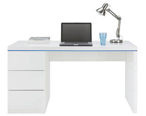 SKRIVBORD - vit, Design, träbaserade material (140/75/60cm) - Mömax modern living