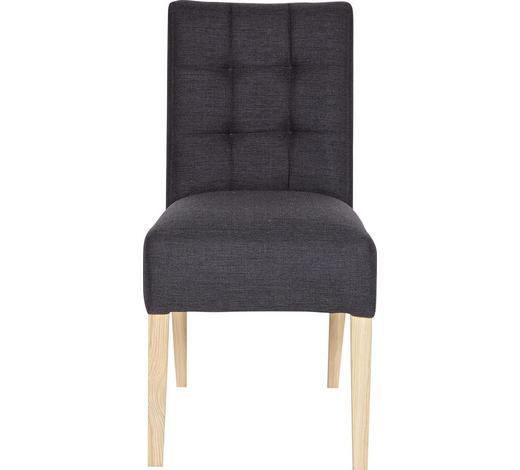 ŽIDLE, antracitová, barvy dubu - barvy dubu/antracitová, Design, dřevo/textil (47/92/54cm) - Ambia Home