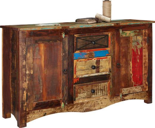 KOMMODE 150/85/40 cm - Multicolor/Braun, LIFESTYLE, Holz/Metall (150/85/40cm) - Landscape