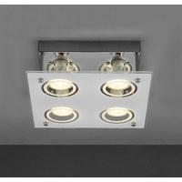 LED SVJETILJKA STROPNA - bijela/boje kroma, Konvencionalno, staklo/metal (23/8,5cm) - Boxxx