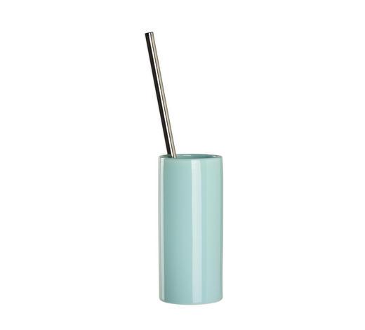 WC-BÜRSTENGARNITUR in Metall  - Chromfarben/Mintgrün, Basics, Keramik/Kunststoff (8,5/38cm) - Celina