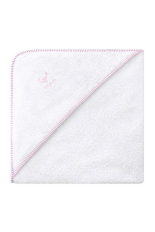 KAPUZENBADETUCH - Rosa/Weiß, Basics, Textil (80/80cm) - BELLY BUTTON