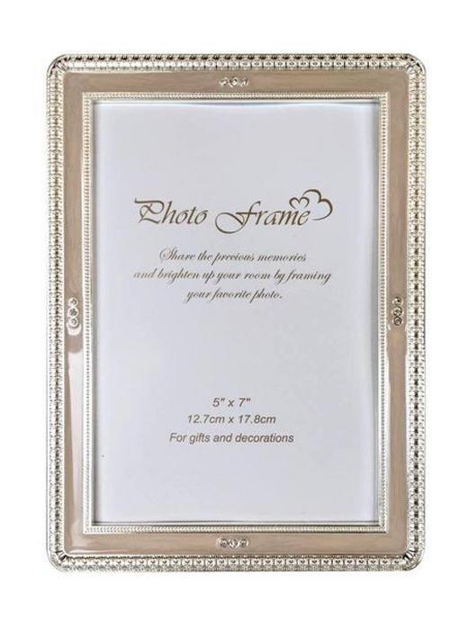 FOTORAHMEN in Weiß - Weiß, Basics, Glas/Metall (15,8/20,8cm) - Ambia Home