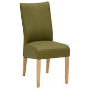 Stuhl in Holz, Textil Eichefarben, Grün - Eichefarben/Grün, KONVENTIONELL, Holz/Textil (44/98/64cm) - Venda