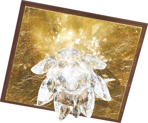 WANDLEUCHTE - Rostfarben/Goldfarben, KONVENTIONELL, Metall (13.5/13.5/8cm)