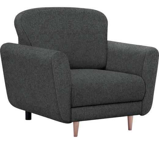 SESSEL in Textil Anthrazit  - Anthrazit/Buchefarben, Design, Holz/Kunststoff (95/90/93cm) - Hom`in