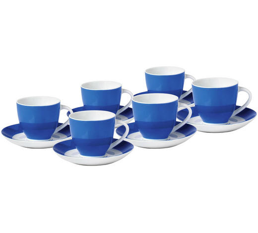 Tassenset 6 Teilig Keramik Porzellan Blau Weiß Online Kaufen Xxxlutz