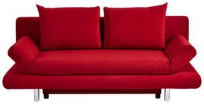 SCHLAFSOFA Mikrofaser Rot  - Chromfarben/Rot, MODERN, Textil (194/73/91cm) - Xora