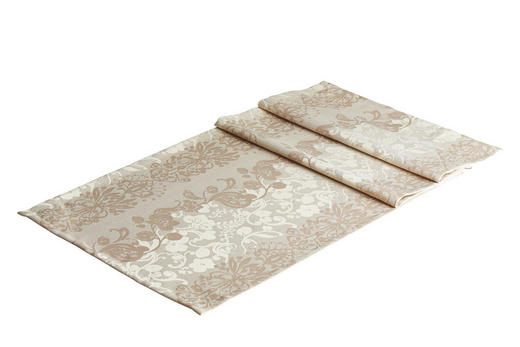 TISCHLÄUFER Textil Jacquard Naturfarben 50/150 cm - Naturfarben, Basics, Textil (50/150cm)