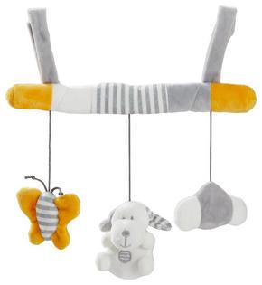 MOBIL TILL BABYSKYDD - vit/grå, Basics, textil (28cm) - My Baby Lou