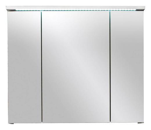 SPIEGELSCHRANK Weiß - Weiß, Design, Glas/Holzwerkstoff (80/68/23cm)