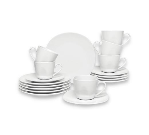 SERVIS ZA KAVU  18-dijelni    - bijela, Konvencionalno, keramika - Homeware