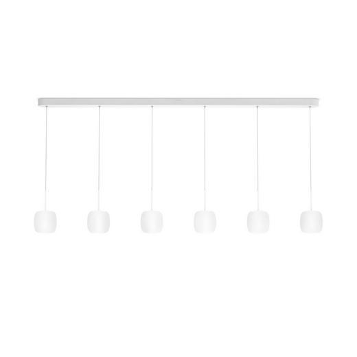 LED-HÄNGELEUCHTE - Opal, Design, Metall (132,3/22,7-150cm)