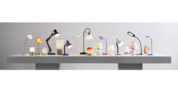 Tischlampe Cindy Cremefarben mit Kugel-Keramikfuß - Creme, KONVENTIONELL, Keramik/Textil (18/23cm) - Ombra