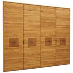 DREHTÜRENSCHRANK in Eichefarben  - Eichefarben/Anthrazit, Natur, Holz/Metall (240/216/60cm) - Valnatura