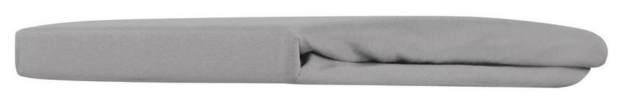 Spannleintuch Mathilda - Silberfarben, KONVENTIONELL, Textil (100/200/28cm) - Ombra